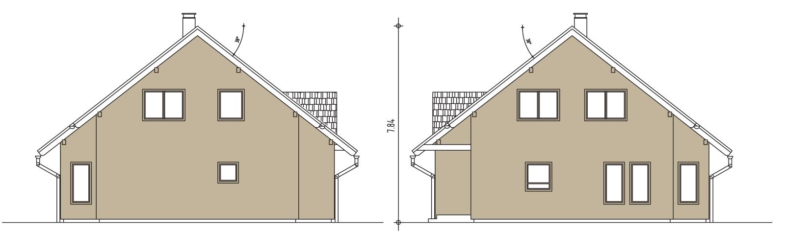 Prerez nizkoenergijske hiše