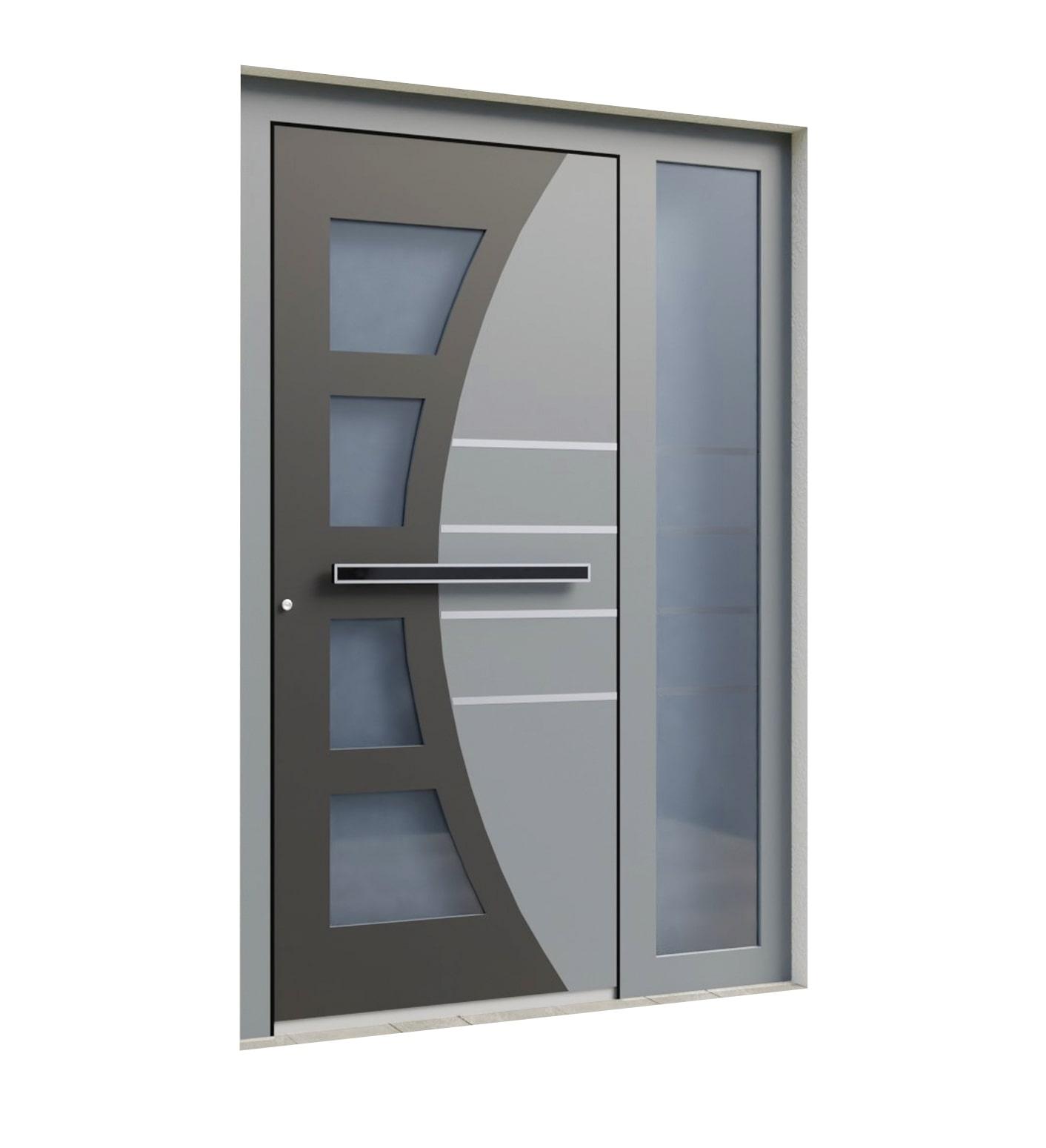 Alu vhodna vrata s steklom
